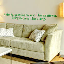 Bird Song - Quote Wall Decal
