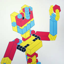 Crazy Cubes - Buildable Wall Decals