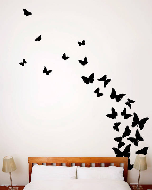 butterflies midnight wall decal