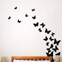 Butterflies, Midnight - Wall Decal