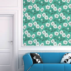 Poppycock, Teal - Wallpaper Tiles