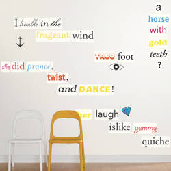 Wall Poetry - Wall Decal