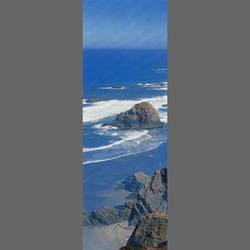California coast door mural wallpaper, 1 part: 1211