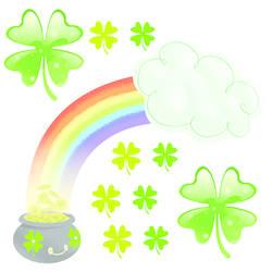 St. Patrick's Day Wall Stickers_Rainbow: SWC001