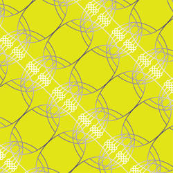 Neural Spirograph, Yellow Silver