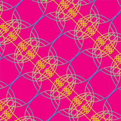 Neural Spirograph, Pink Yellow