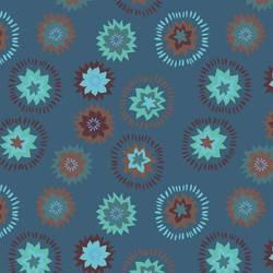 Retro Blue Floral