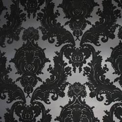 Black Velvet Heirloom Damask on Black