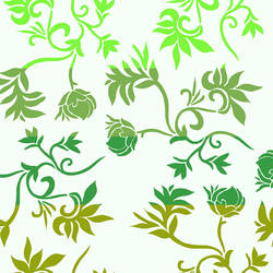 Brown and Green Floral Vines