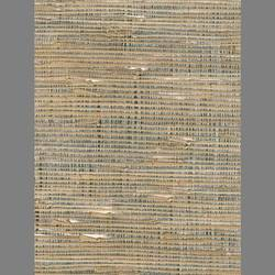 Beige Grasscloth and Silver Mylar handmade natural wallpaper: Be5692g
