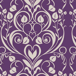 Hearts Damask retro modern custom digital wallpaper by Jessica Lynn Designs