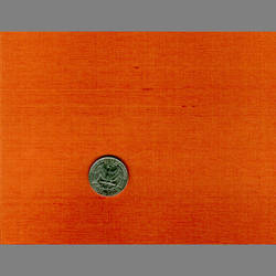 Orange Japanese Silk natural fiber wallcovering: JS39