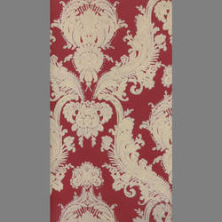 Cream Velvet Petite Heirloom on Peanut Red