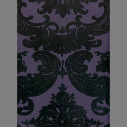 Black Velvet Damask on Purple