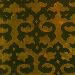 Black Velvet Damask on Gold Mylar