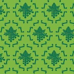 Royal Damask wallpaper by David Wien: Green