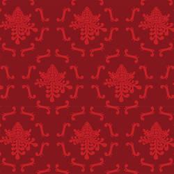 Royal Damask wallpaper by David Wien: Red