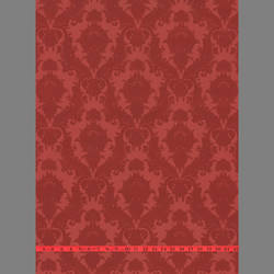 Red Petite Heirloom damask velvet flock wallpaper: VCC0401