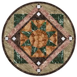 Medallion 3 vinyl applique floor covering