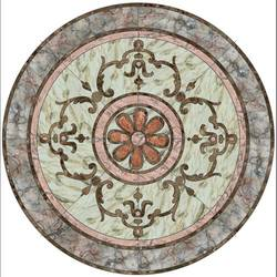 Medallion 4 vinyl applique floor covering