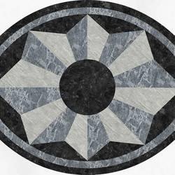 Medallion Oval vinyl applique floor covering