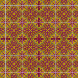 Moroccan Tile vinyl applique floor covering