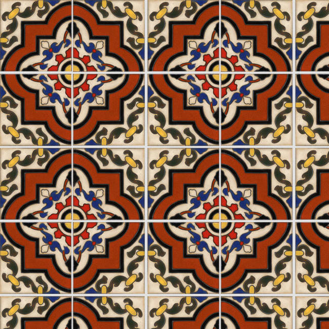 Spanish Tile 3 temporary decorative vinyl applique ...