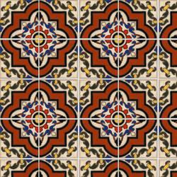 Spanish Tile 3 temporary decorative vinyl applique flooring