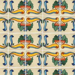 Spanish Tile temporary decorative vinyl applique flooring