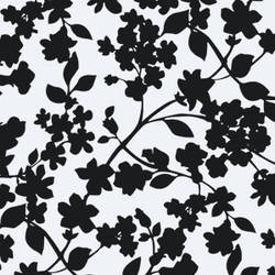 Branches and Leaves modern screen printed modern floral wallpaper: TLL02