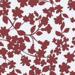Branches and Leaves modern screen printed floral wallpaper: TLL02A