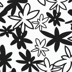 Funky Floral retro-modern screen printed wallpaper: TLL12