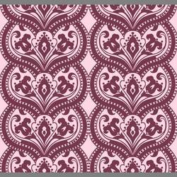 Purple Surrender velvet flocked wallpaper: VCC0605