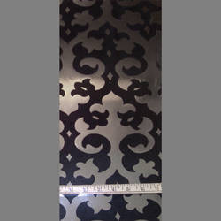 Black Velvet Damask on Silver Mylar