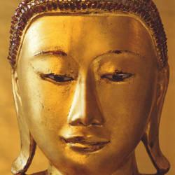 Golden Buddha Trompe L'oeil wall mural wallpaper, 4 part: 405
