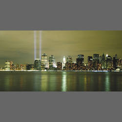 New York Memorial Lights Mural