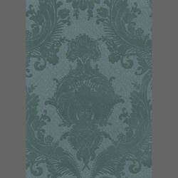 Green Heirloom Damask custom velvet flock wall covering: RL10