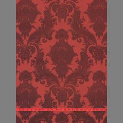 Burgundy Velvet Heirloom Damask on Red