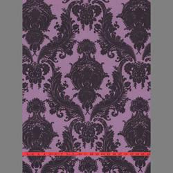 Purple Velvet Heirloom Damask on Purple