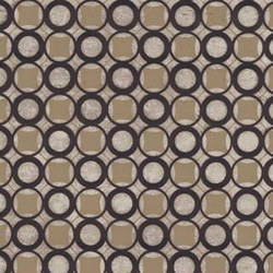 Brown Circle velvet flocked wallcovering: VCC0424