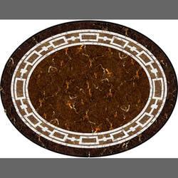 Faux Marble Circular vinyl applique flooring