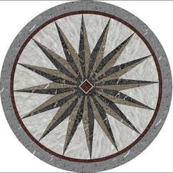 Faux Marble Circular 2 vinyl applique flooring