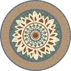 Medallion vinyl floor applique covering