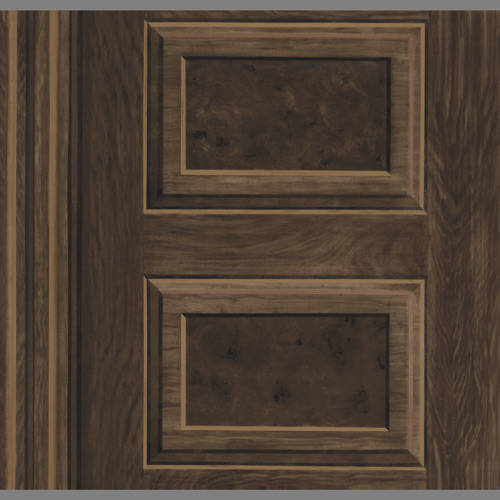 Faux Wood Grain Panel Wallpaper