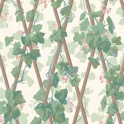 Traditional harlequin wallpaper with leaves and berries: CP6171