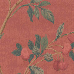 Traditional Leaf and fruit wallcovering: 544893