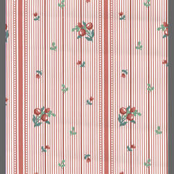 Traditional Striped Berries Wallpaper: k5-3053