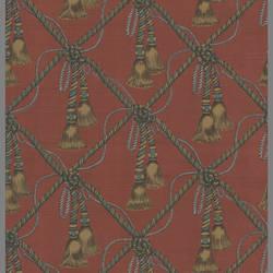 Traditional Williamsburg harlequin tassel wallpaper: P5R62420