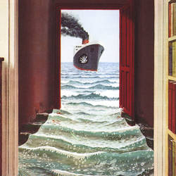 Le Secret Trompe l'oeil Door Mural