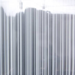 White and Clear Stripe Transluscent Window Film